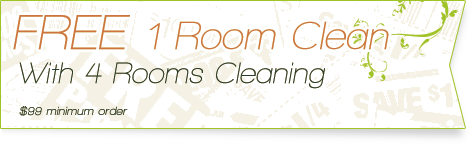 Carpet Cleaning Coupons | 1 room cleaning free with with 4 rooms cleaning | Guarantee Green