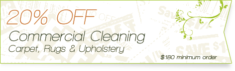 Carpet Cleaning Coupons | 20% off comercial cleaning | Guarantee Green