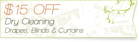 Carpet Cleaning Coupons | 15% off drapes, blinds and curtains | Guarantee Green