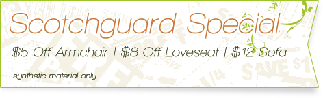 Carpet Cleaning Coupons |  upholstery scotchguard specials | Guarantee Green
